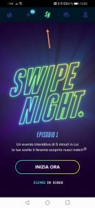 tinder swipe night